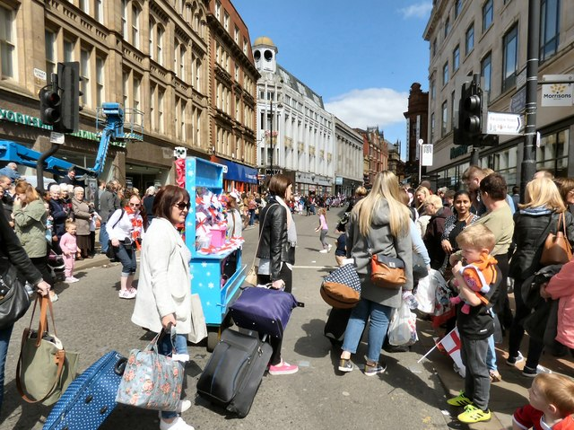 Waiting for the parade on Oldham Street