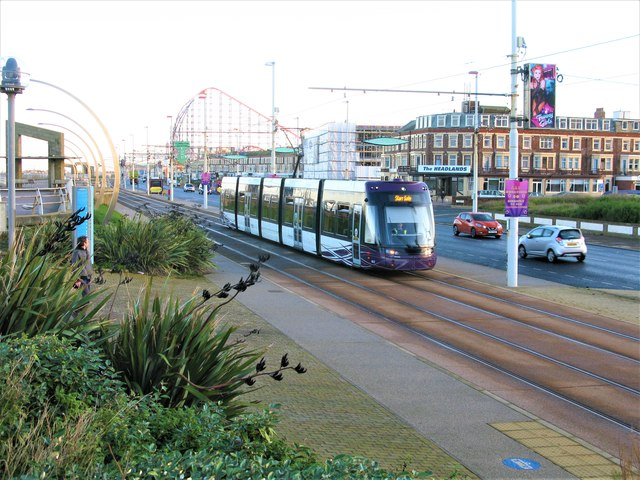 Tramway and New South Promenade (A584), Blackpool