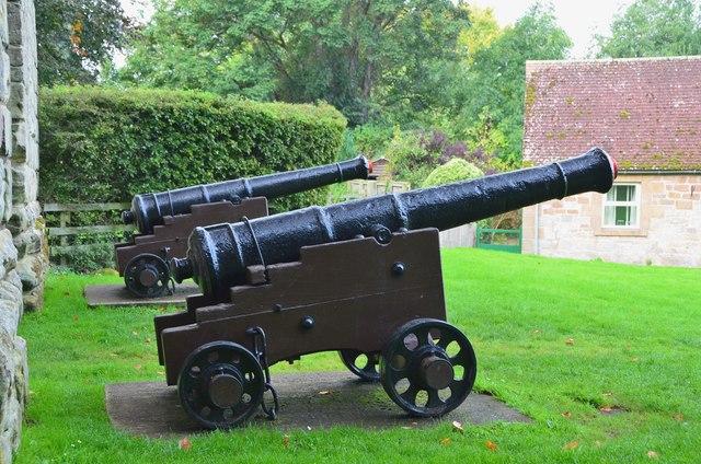Cannons at Etal Castle
