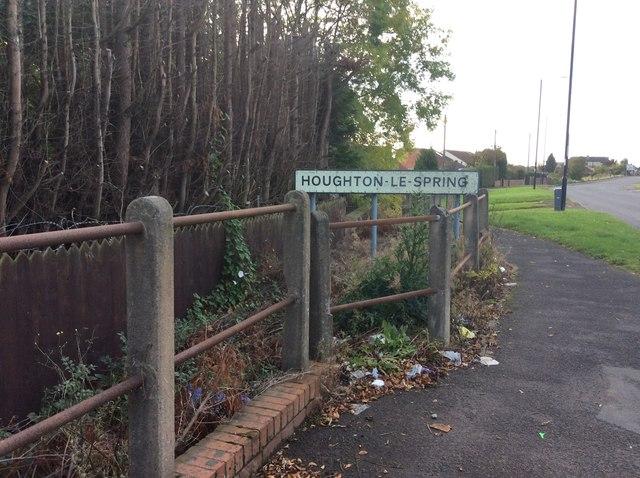 Entering Houghton-le-Spring