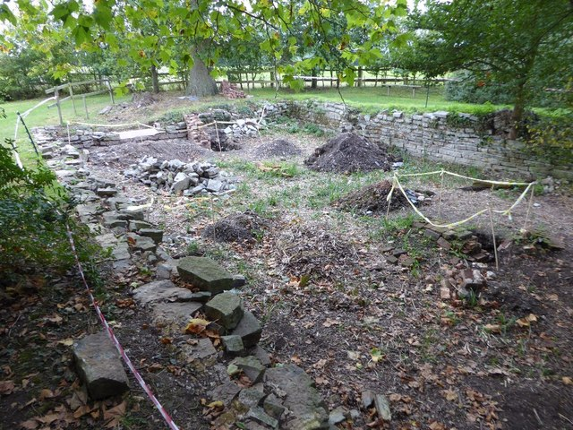 The ruins of a former boathouse, Croome Park