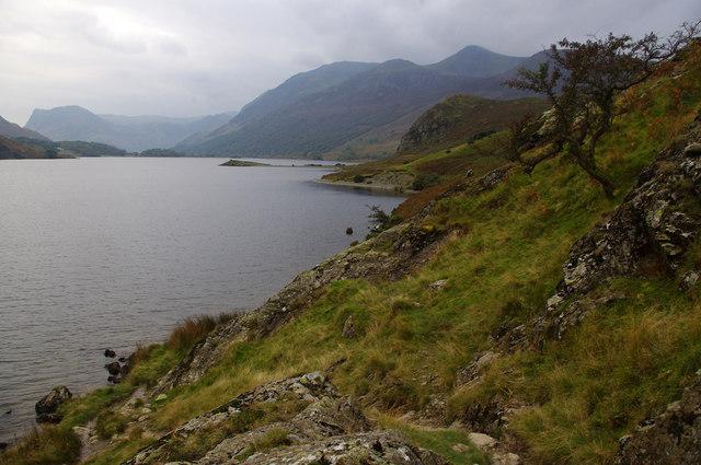 SW shore of Crummock Water