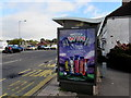 ST3090 : Cadbury advert on a Malpas Road bus shelter, Newport by Jaggery