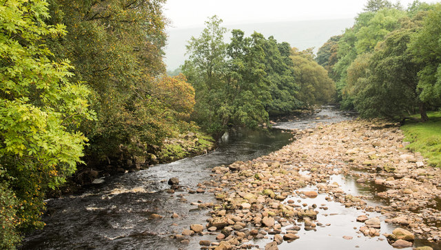 River Swale flowing downstream