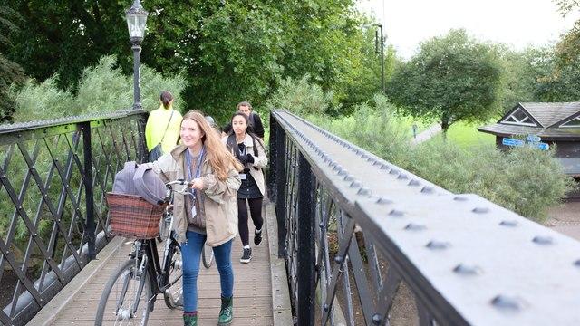 Footbridge at Jesus Lock