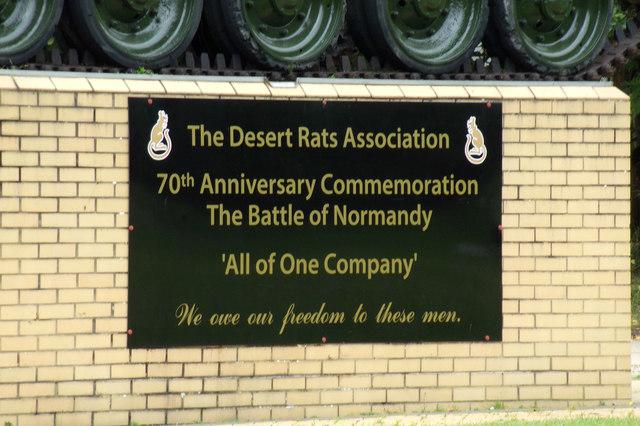 Desert Rats Association sign