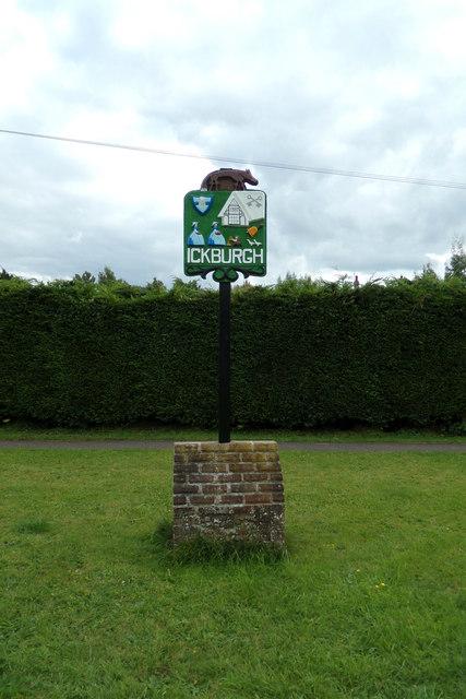 Ickburgh Village sign