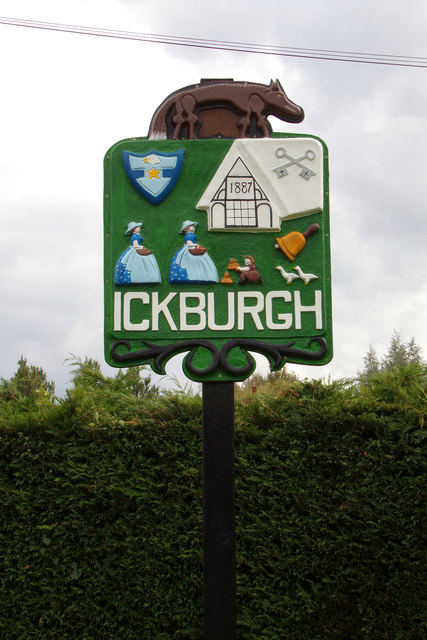 Ickburgh Village sign
