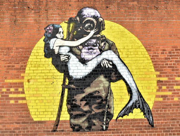 Street art, Dunbar Street, Belfast (September 2017)
