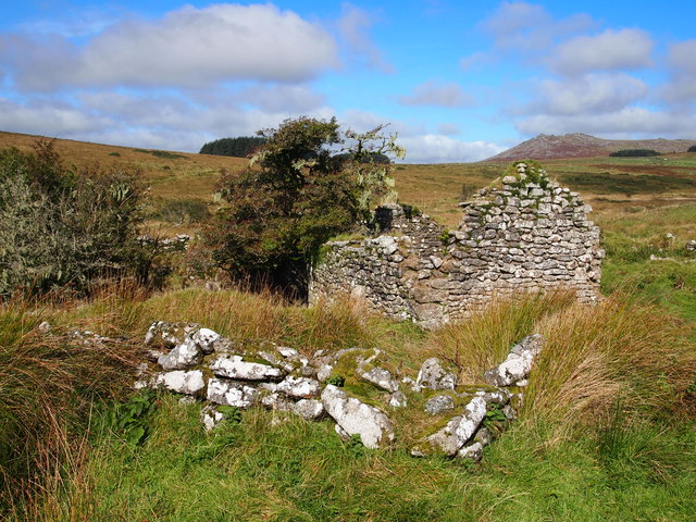 Ruined Farm Below Garrow Tor