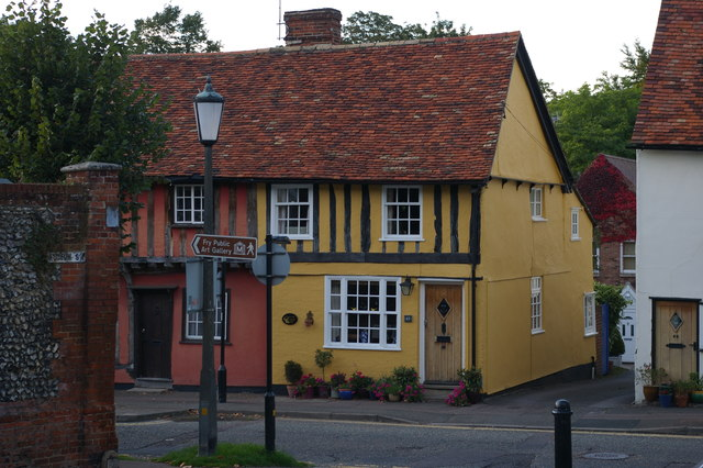 Saffron Walden: houses on Castle Street