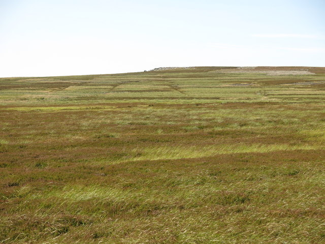 Monk's Moor south of the rock outcrop