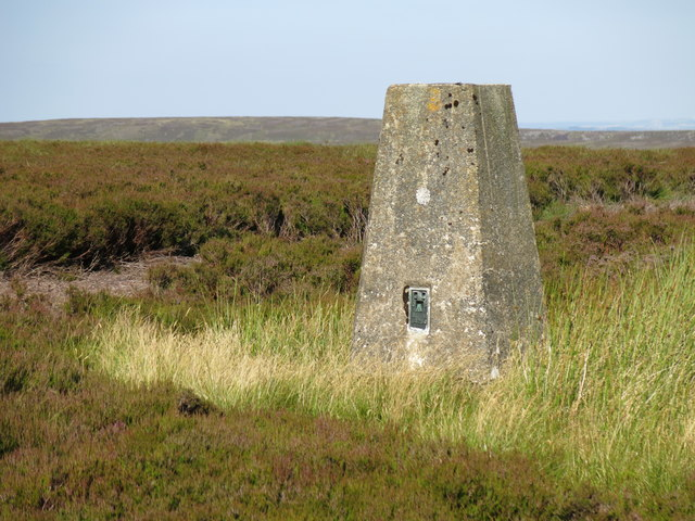Trig point on Monk's Moor above Raven Hills (2)