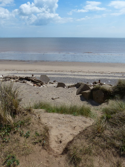 North Sea coast at the Spurn National Nature Reserve
