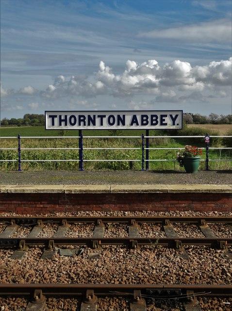 At Thornton Abbey  railway station