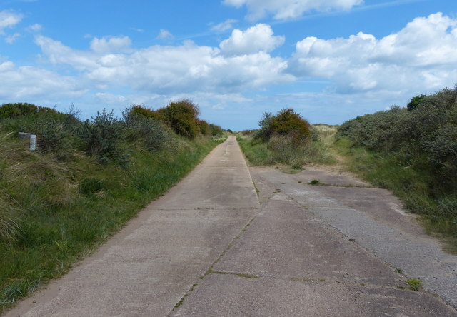 Road along the Spurn Head Spit