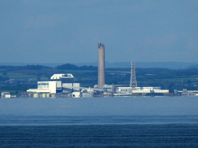 Aberthaw Power Station from Minehead