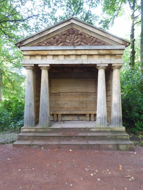Wooden temple in the grounds of Dumfries House