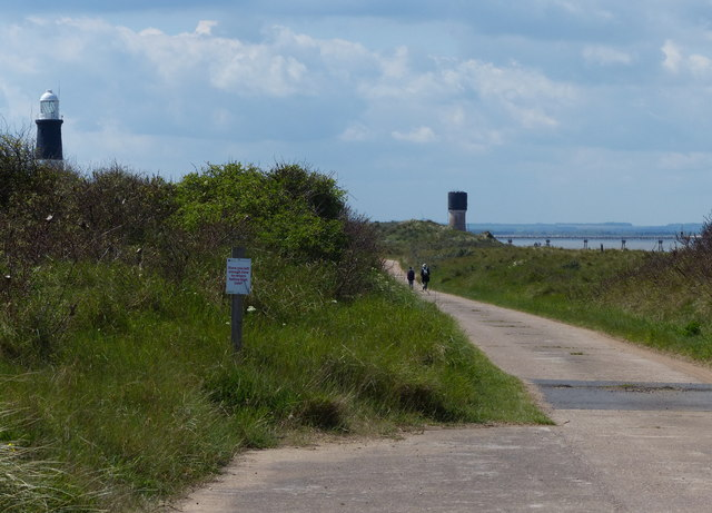 Road along the Spurn Head Spit