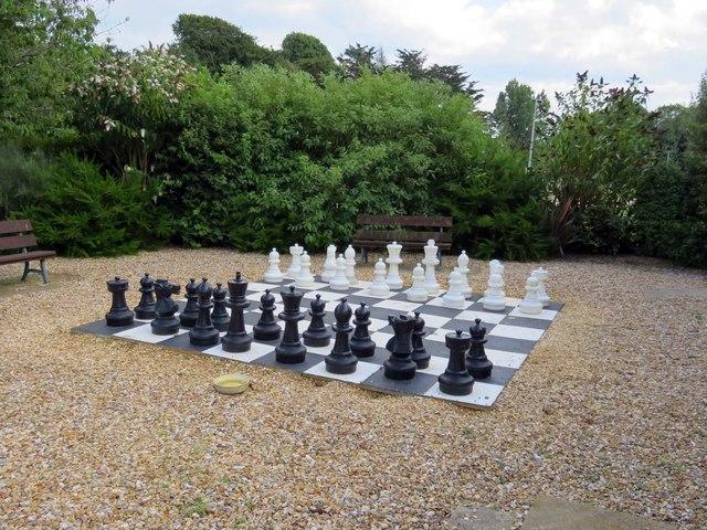 Garden chess at Norton Grange