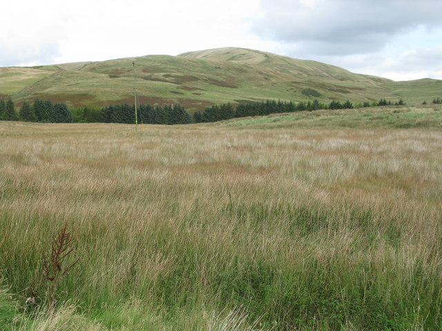 View towards Faw Mount in the Pentland Hills
