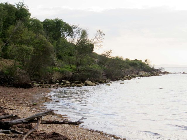 The shoreline in Totland