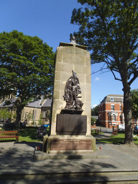 War memorial, Wellington Road, Bridlington