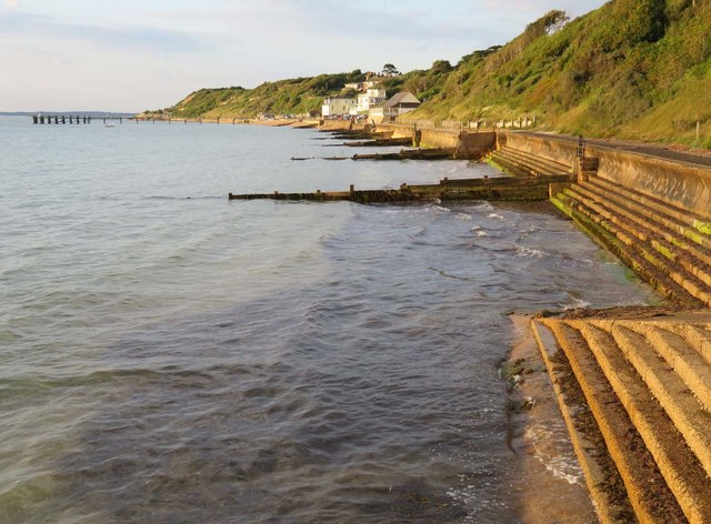 The seafront in Totland