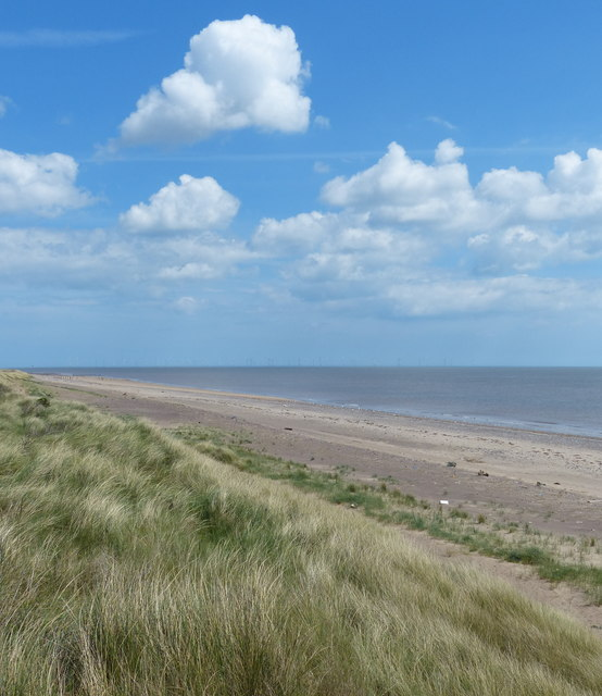 Dunes and beach at the Spurn Head Spit
