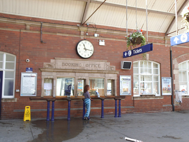 Bridlington station - booking office
