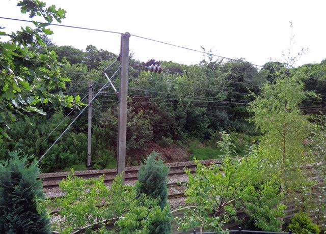 Railway line near Burley in Wharfedale station