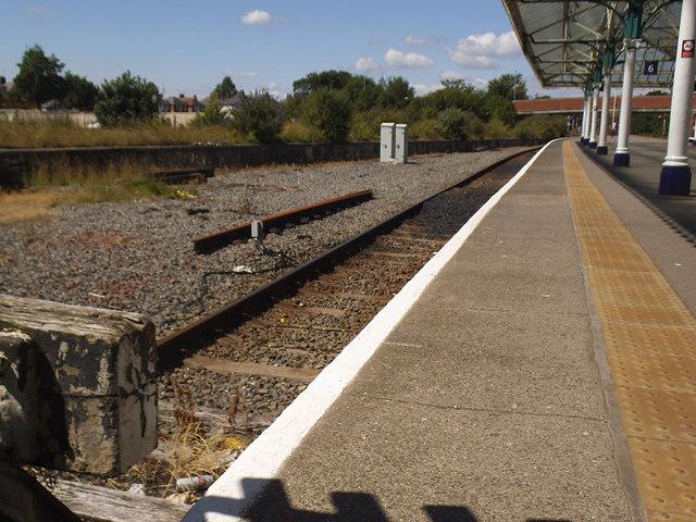Bridlington station - terminal platforms