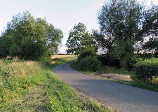 Gaddesby Lane towards Gaddesby