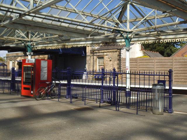 Bridlington station - cycle rack