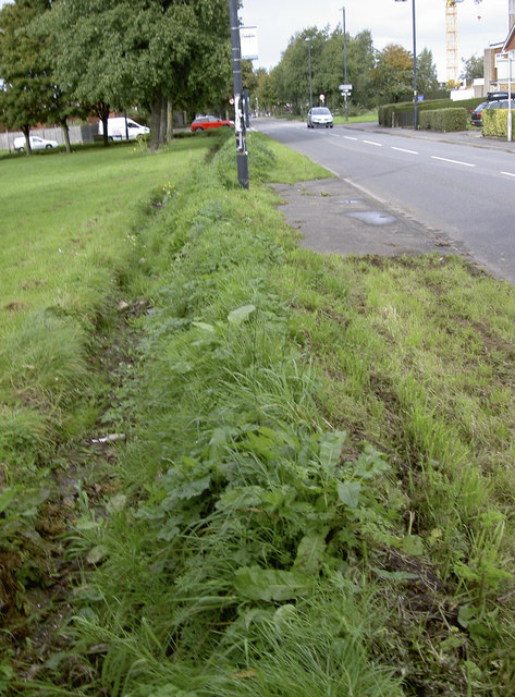 A modern defensive ditch