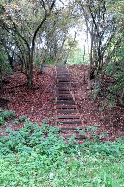 Steps up towards Boon's Barn