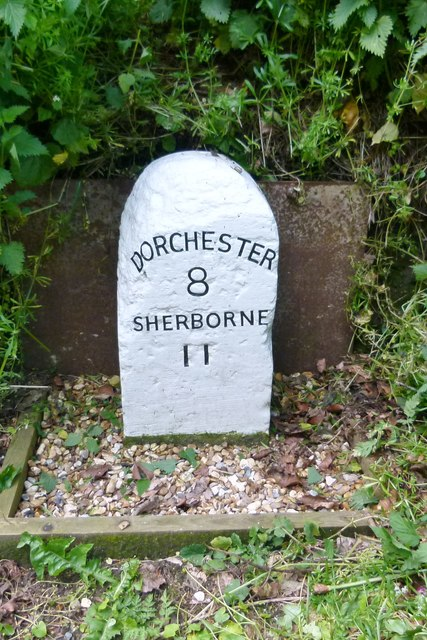 Old Milestone by the A352, Duck Street, Cerne Abbas