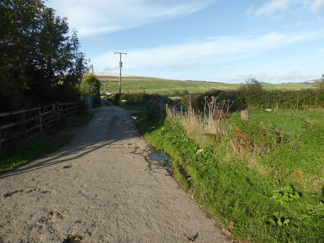 The lane to Higher Pennance Farm