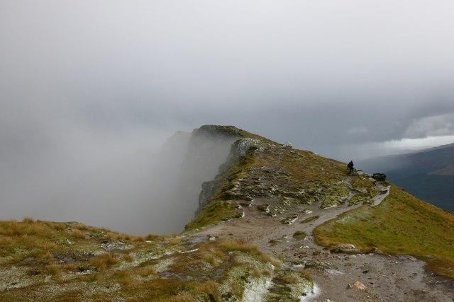 Mist receding from Ben Lomond