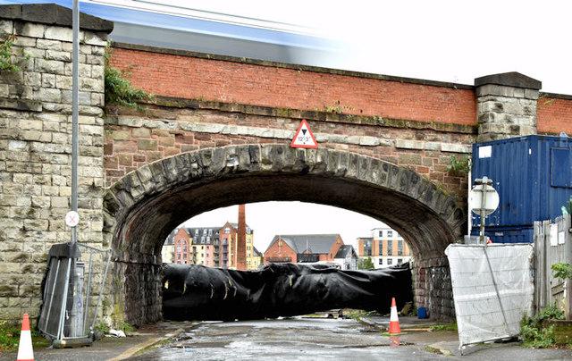 Railway arch, Bridge End, Belfast (October 2017)