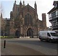 SO5039 : West side of Hereford Cathedral by Jaggery
