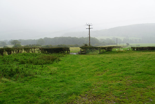 Field entrances near Branas Lodge
