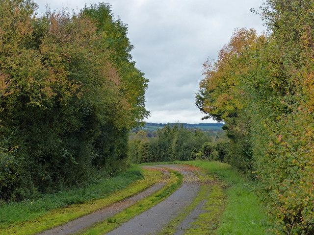 The former A47 at Wardley Hill