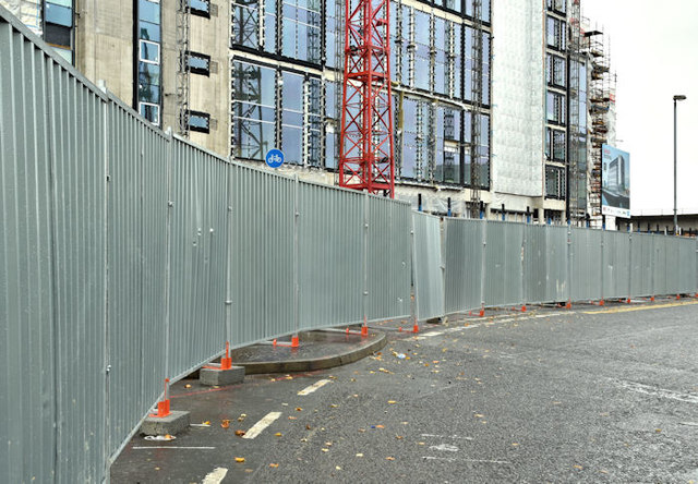 City Quays fence, Belfast (October 2017)