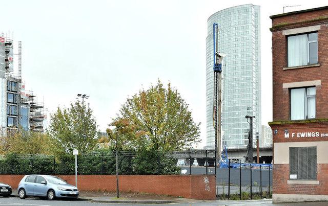 The City Quays car park site, Belfast - October 2017(1)