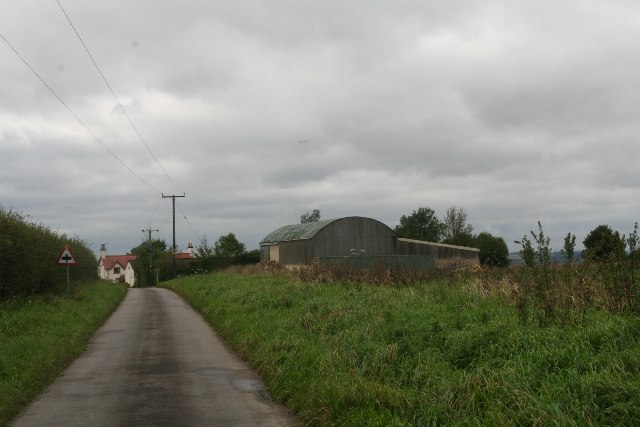 Wold Road, a narrow lane leading to Worlaby