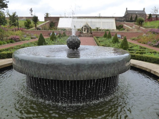 Fountain in the Queen Elizabeth Walled Garden