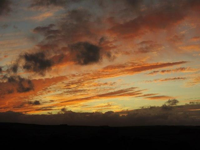 Sunset over Keenley Fell