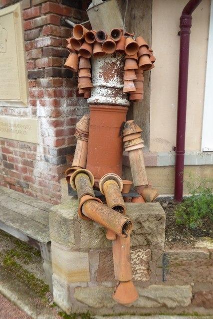 Flowerpot man in Queen Elizabeth Walled Garden