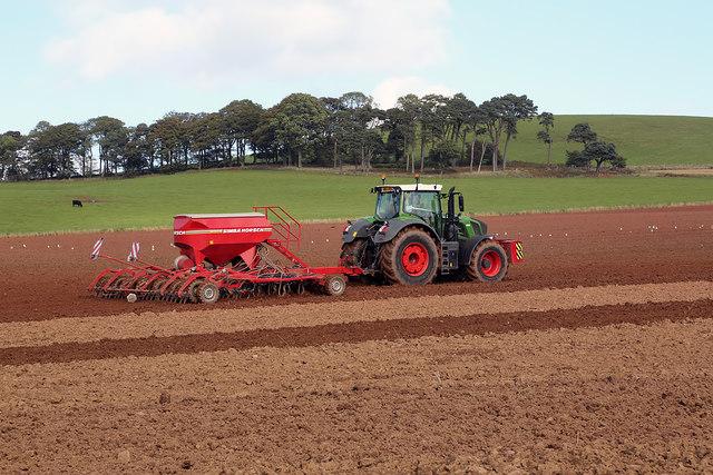 Seeding a field near Darlingfield